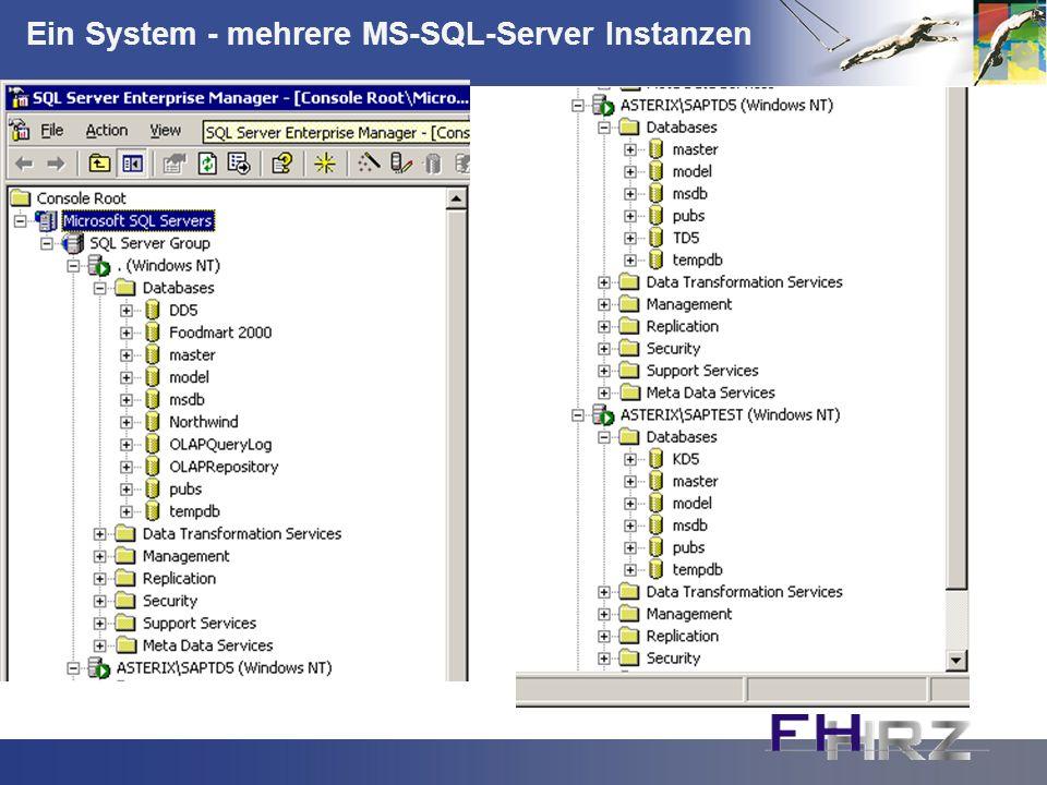 Ein System - mehrere MS-SQL-Server Instanzen