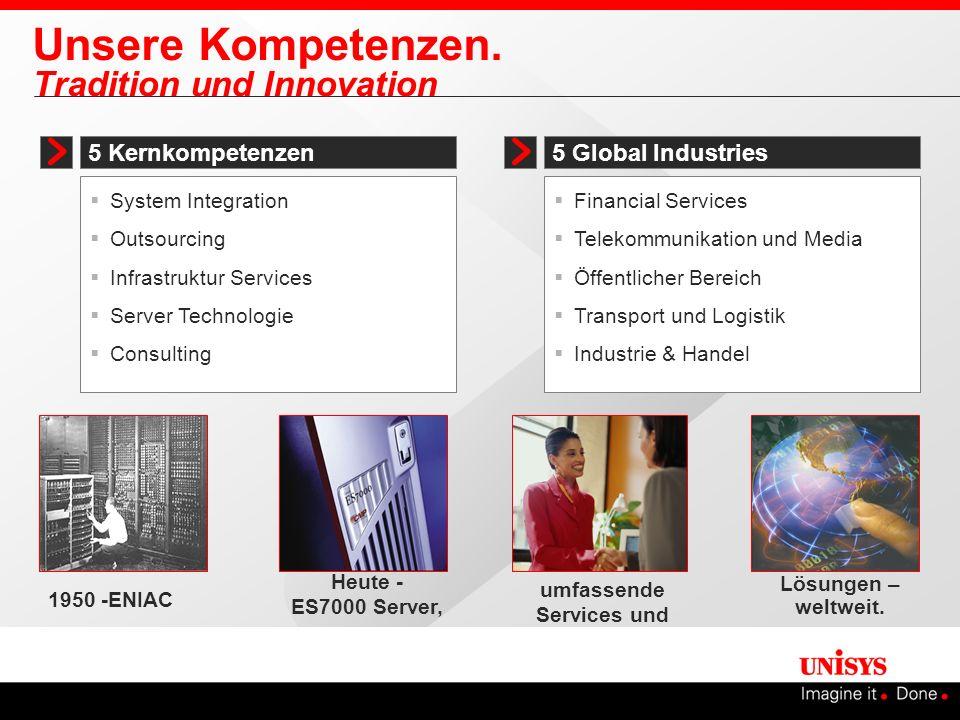 Unsere Kompetenzen. Tradition und Innovation 5 Kernkompetenzen System Integration Outsourcing Infrastruktur Services Server Technologie Consulting 5 G