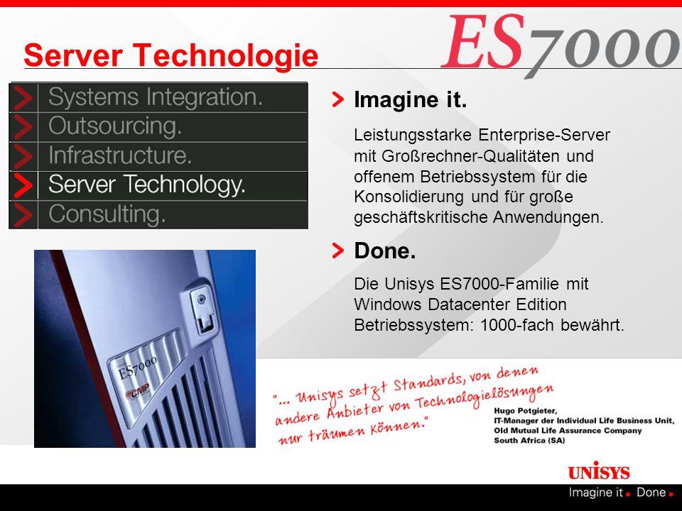 Server Technologie Imagine it. Leistungsstarke Enterprise-Server mit Großrechner-Qualitäten und offenem Betriebssystem für die Konsolidierung und für