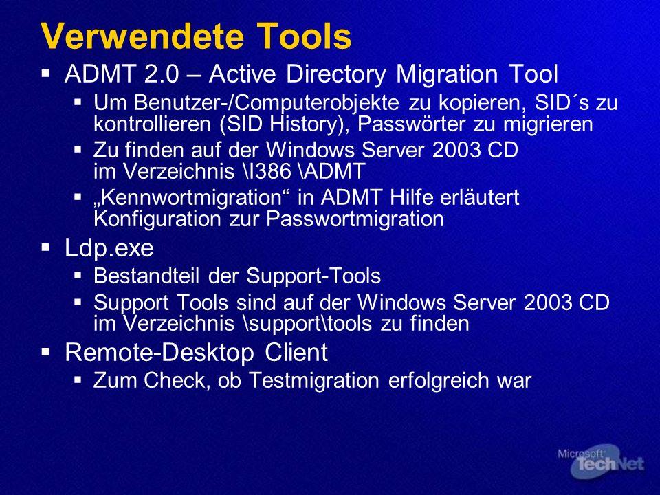 Demo NT 4 Domäne in eine neue W2k3 Gesamtstruktur migrieren