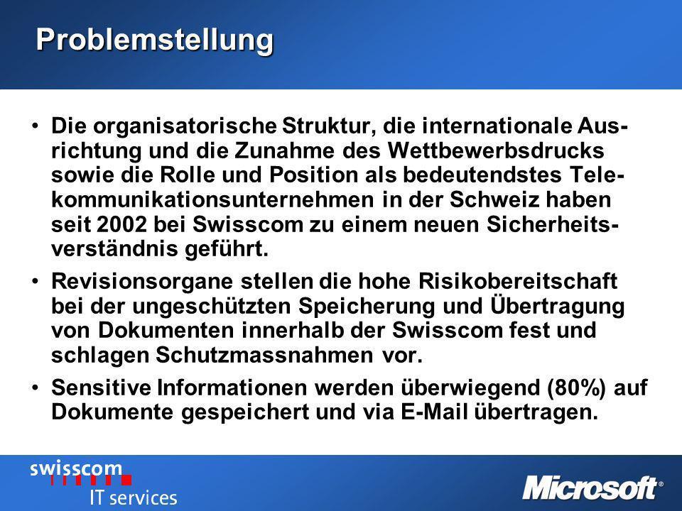 Problemstellung Die organisatorische Struktur, die internationale Aus- richtung und die Zunahme des Wettbewerbsdrucks sowie die Rolle und Position als