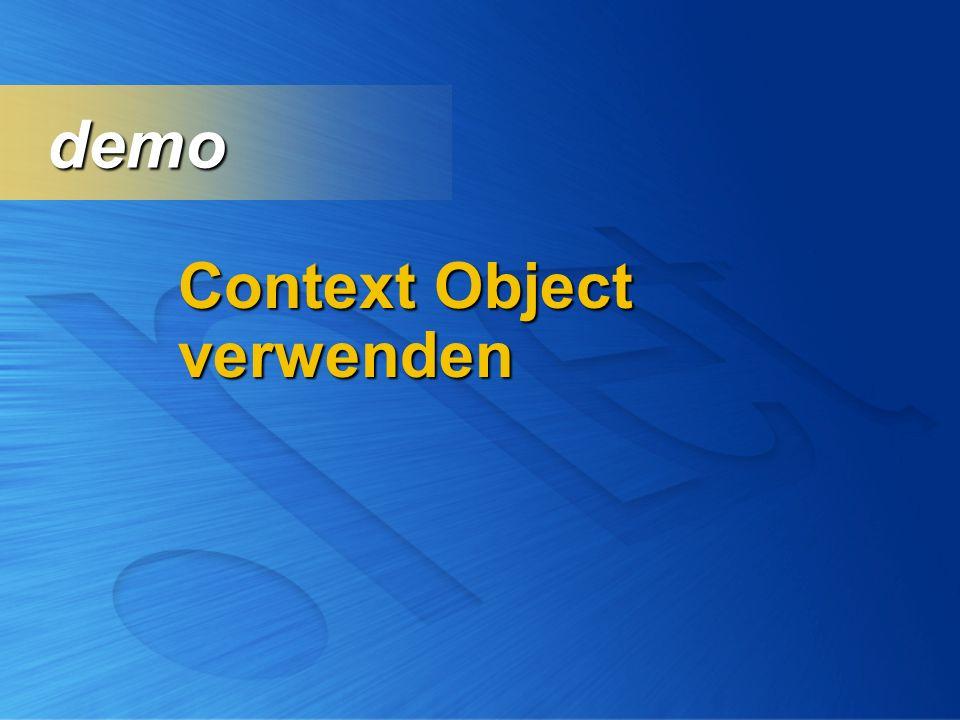 Context Object verwenden demo demo