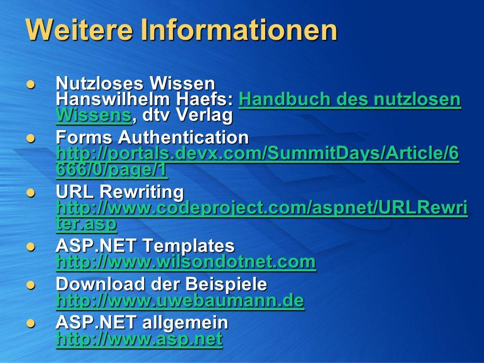 Weitere Informationen Nutzloses Wissen Hanswilhelm Haefs: Handbuch des nutzlosen Wissens, dtv Verlag Nutzloses Wissen Hanswilhelm Haefs: Handbuch des