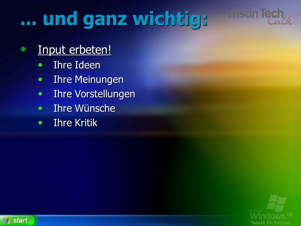 Tablet PC Edition Gesten erkennen 38 Application Gestures 38 Application Gestures ScratchOut, Triangle, ArrowUp,...