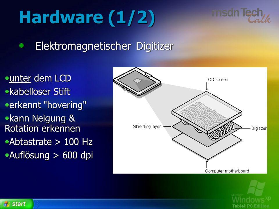 Tablet PC Edition Zusammenfassung Ink ist das grundlegende Objekt in stiftbasierten Anwendungen.