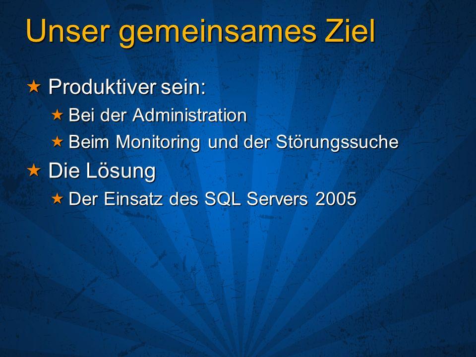 DMVs verbessern den Zugriff SQL Server 2000: DBCC SHOWCONTIG SQL Server 2000: DBCC SHOWCONTIG Ausgabe ist standardmäßig keine Tabelle Ausgabe ist standardmäßig keine Tabelle Nicht einfach per Programm zu analisieren Nicht einfach per Programm zu analisieren Zuerst muss manuell eine Tabelle angelegt werden Zuerst muss manuell eine Tabelle angelegt werden Dynamisches SQL muss zum füllen der Tabelle verwendet werden Dynamisches SQL muss zum füllen der Tabelle verwendet werden SQL Server 2005: sys.dm_db_index_physical_stats(params) SQL Server 2005: sys.dm_db_index_physical_stats(params) Table-valued Funktion, die eine Tabelle zurückgibt Table-valued Funktion, die eine Tabelle zurückgibt Einfach auszuwerten Einfach auszuwerten Es kann ein SELECT INTO verwendet werden Es kann ein SELECT INTO verwendet werden Kein dynamisches SQL notwendig Kein dynamisches SQL notwendig