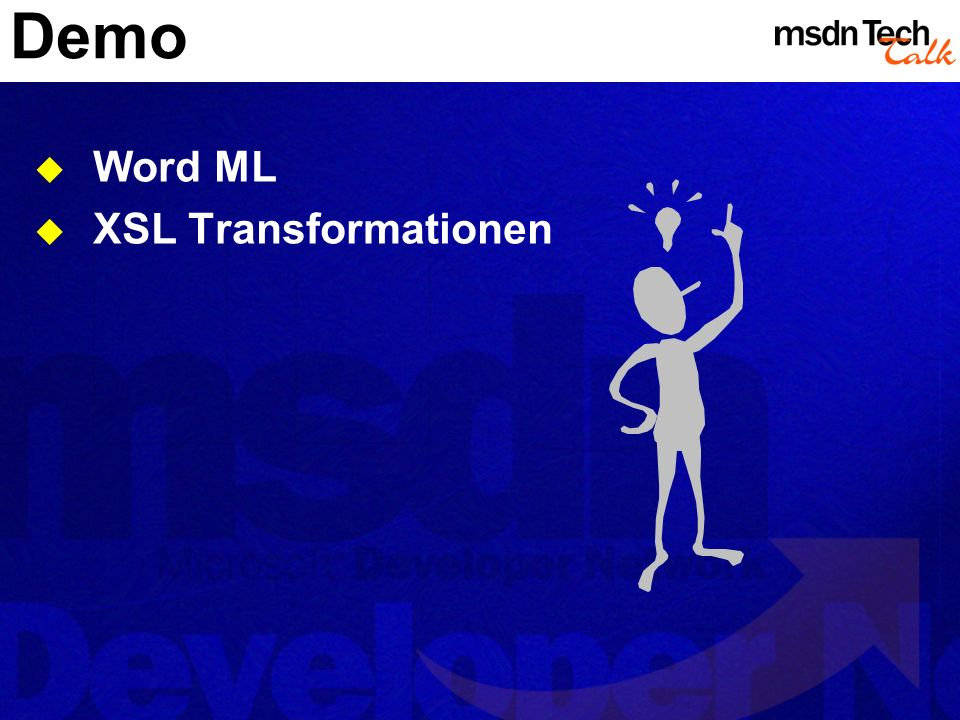 Demo Word ML XSL Transformationen