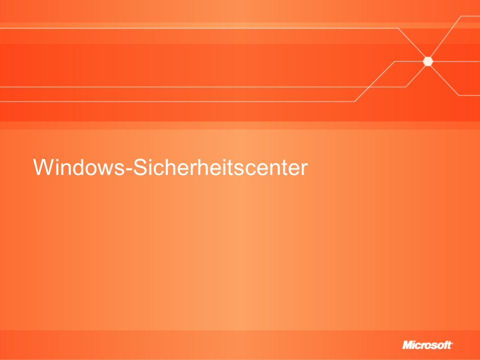 Windows-Sicherheitscenter