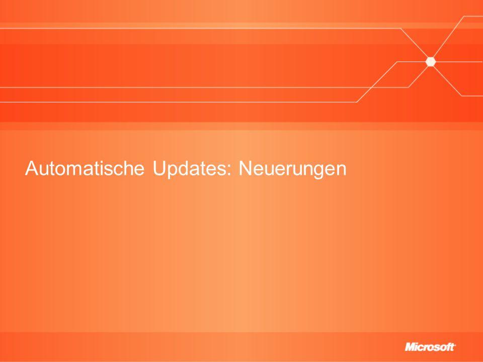 Automatische Updates: Neuerungen