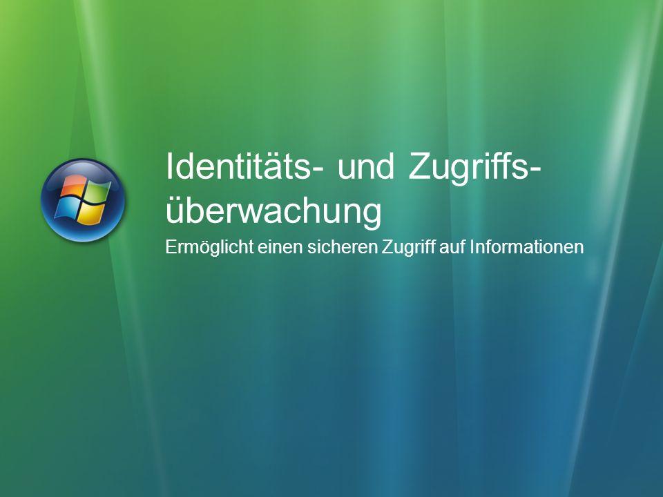 Identitäts- und Zugriffs- überwachung Ermöglicht einen sicheren Zugriff auf Informationen