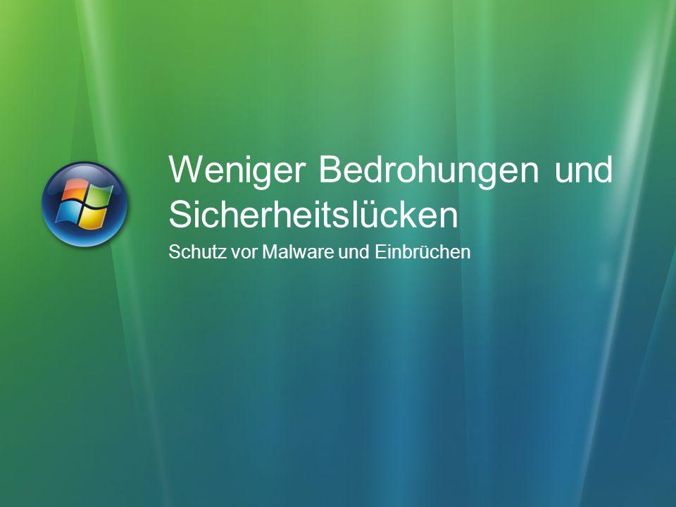 Schutz vor Social Engineering Phishing-Filter und farbige Adressleiste Benachrichtigung bei gefährlichen Einstellungen Sichere Standardeinstellungen für IDN Schutz vor Exploits Unified URL Parsing Verbesserung der Codequalität (SDLC) ActiveX-Opt-in Geschützter Modus verhindert das Ausführen von schädlicher Software Internet Explorer 7