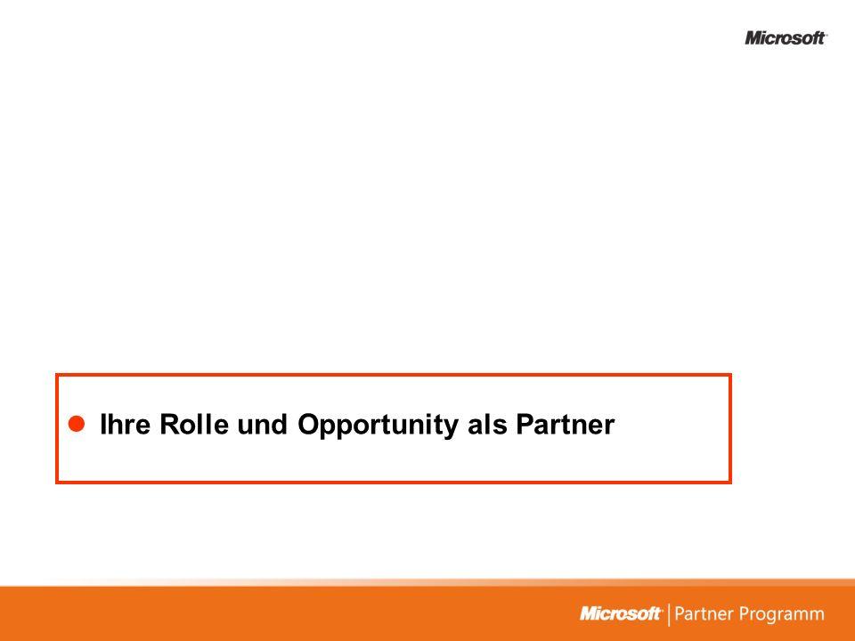 Ihre Rolle und Opportunity als Partner