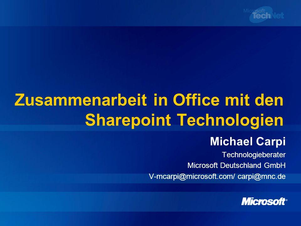 Agenda Die Idee von SharePoint Unterschiede SharePoint Portal Server 2003 und Windows SharePoint Services Demonstration an Beispielen