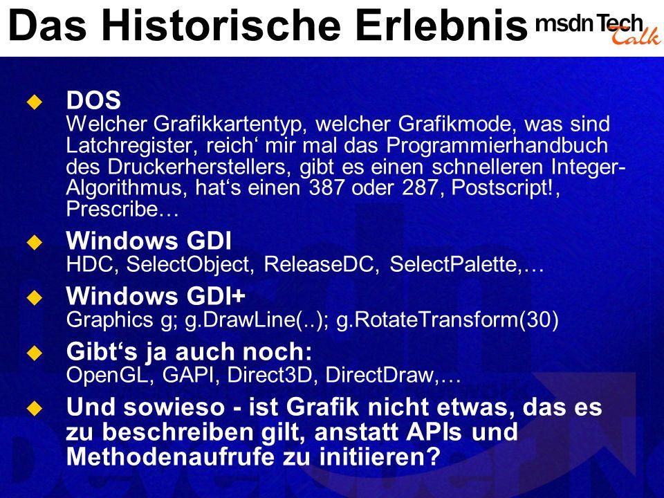 Das Historische Erlebnis DOS Welcher Grafikkartentyp, welcher Grafikmode, was sind Latchregister, reich mir mal das Programmierhandbuch des Druckerher