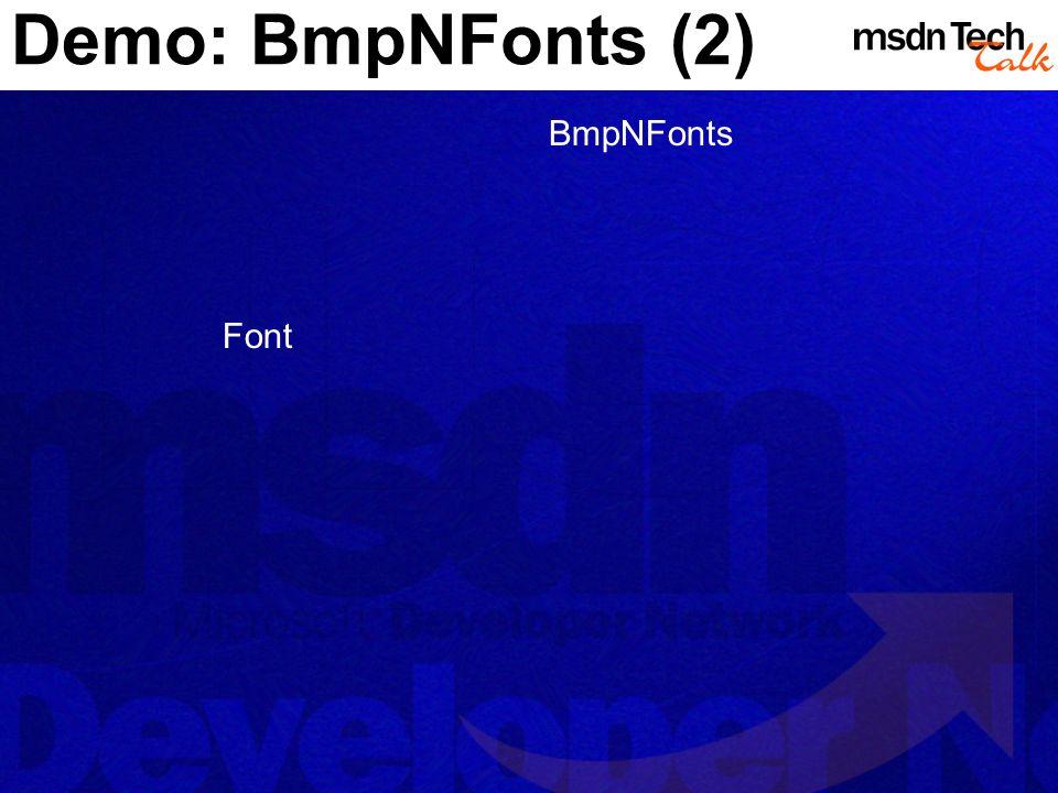 Demo: BmpNFonts (2) BmpNFonts Font