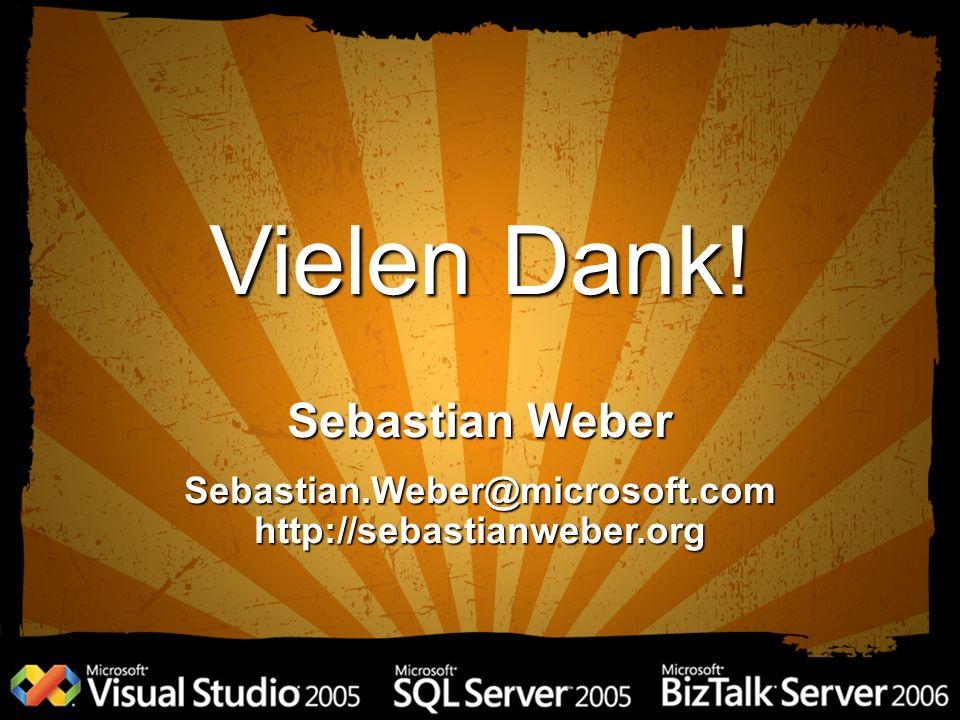 Vielen Dank! Sebastian Weber Sebastian.Weber@microsoft.comhttp://sebastianweber.org