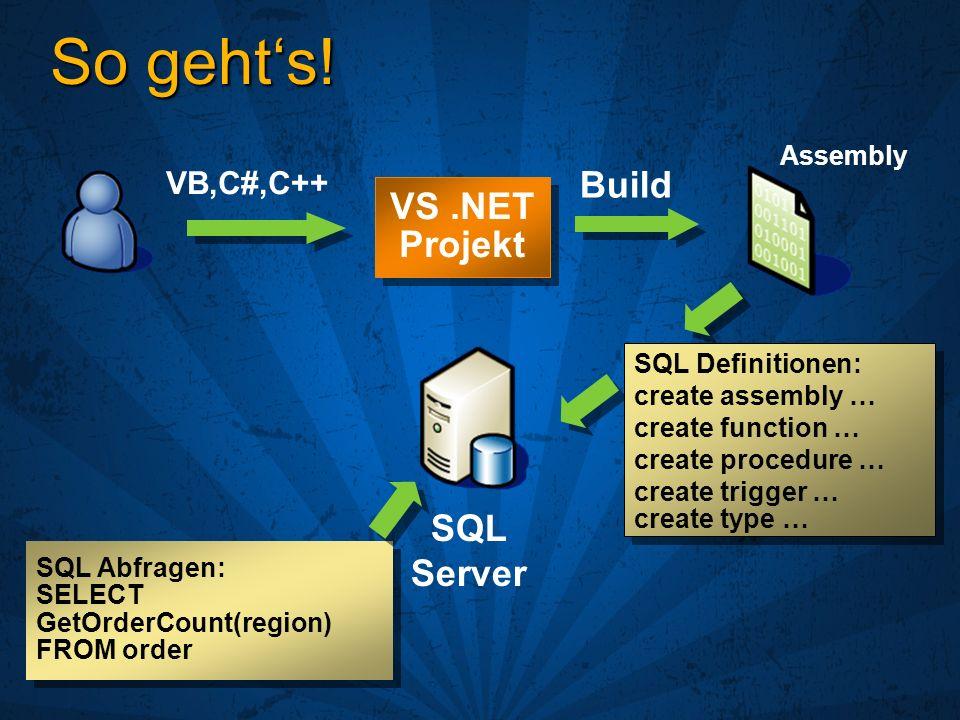 Integration != Integration Hier: SQL 2000 Extended Stored Procedures Client SqlServr.exe Daten Ext.