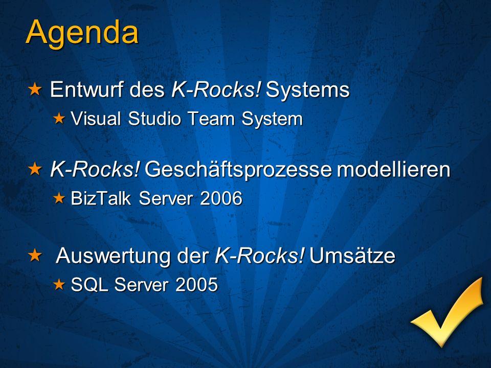 Agenda Entwurf des K-Rocks! Systems Entwurf des K-Rocks! Systems Visual Studio Team System Visual Studio Team System K-Rocks! Geschäftsprozesse modell