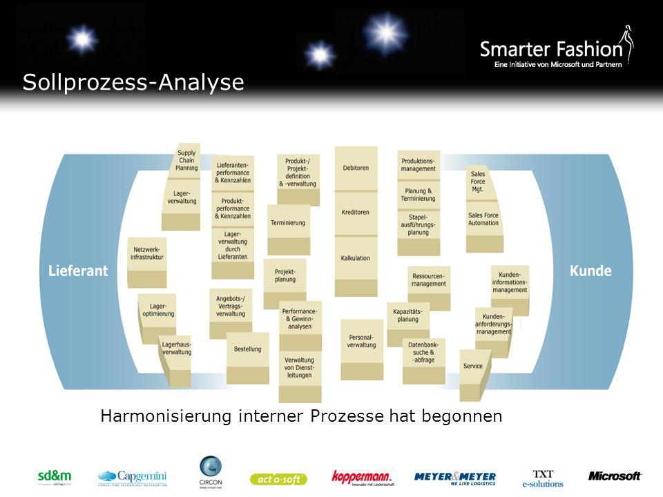 Sollprozess-Analyse Harmonisierung interner Prozesse hat begonnen