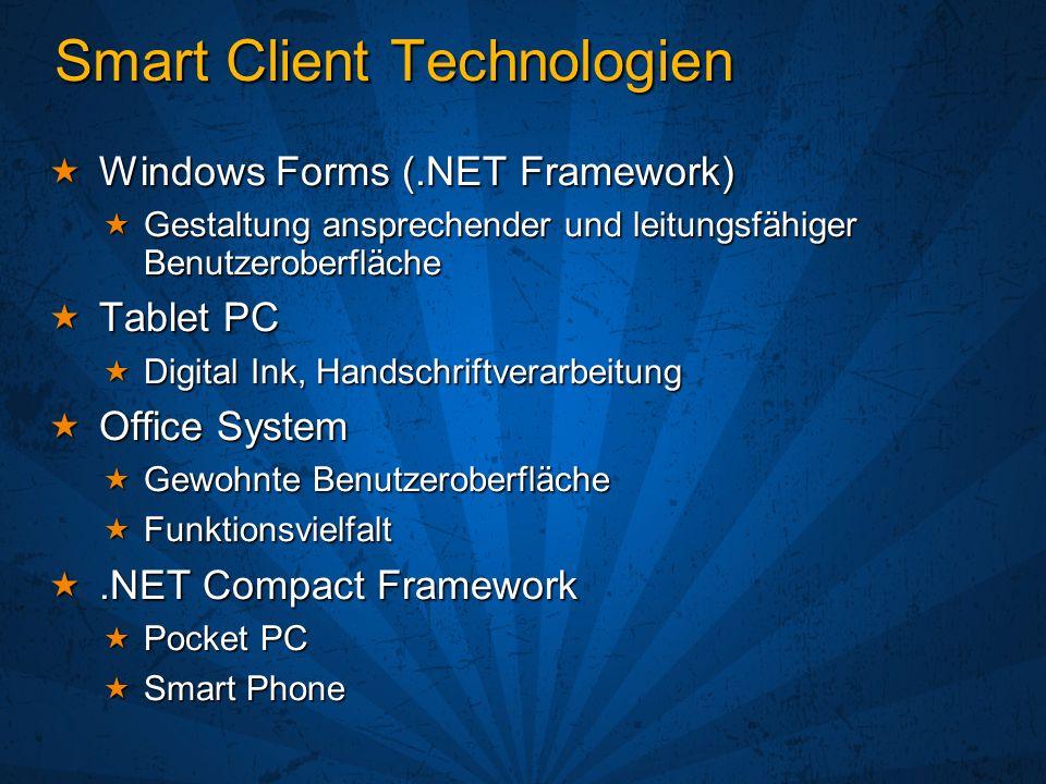 Office System als Host für Smart Clients
