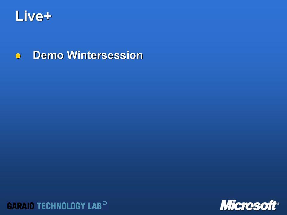 Live+ Demo Wintersession Demo Wintersession