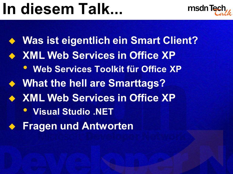 In diesem Talk... Was ist eigentlich ein Smart Client.