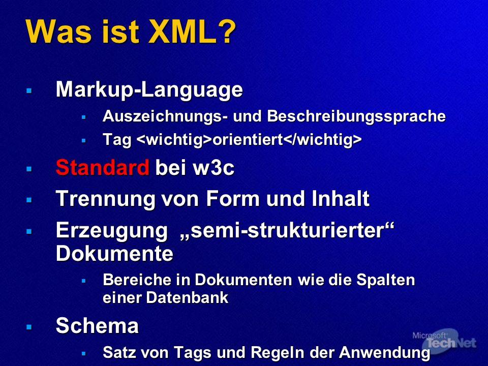 Was ist XML.