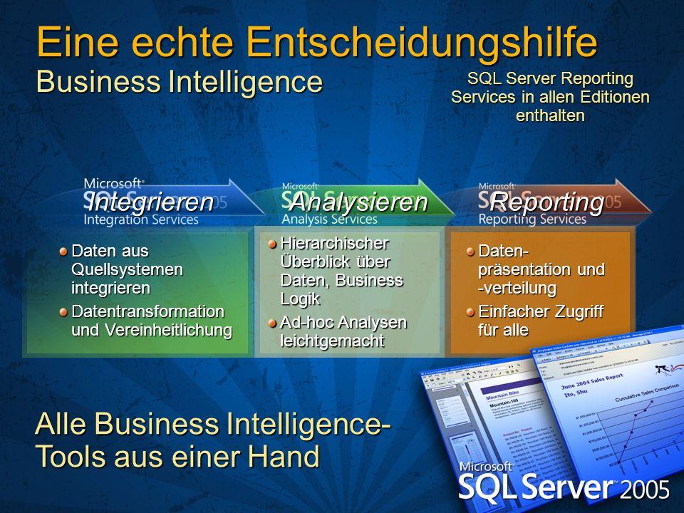 Daten aus Quellsystemen integrieren Datentransformation und Vereinheitlichung Hierarchischer Überblick über Daten, Business Logik Ad-hoc Analysen leic