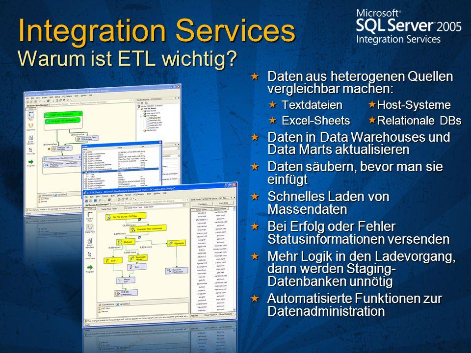 Daten aus heterogenen Quellen vergleichbar machen: Daten aus heterogenen Quellen vergleichbar machen: Textdateien Host-Systeme Textdateien Host-System