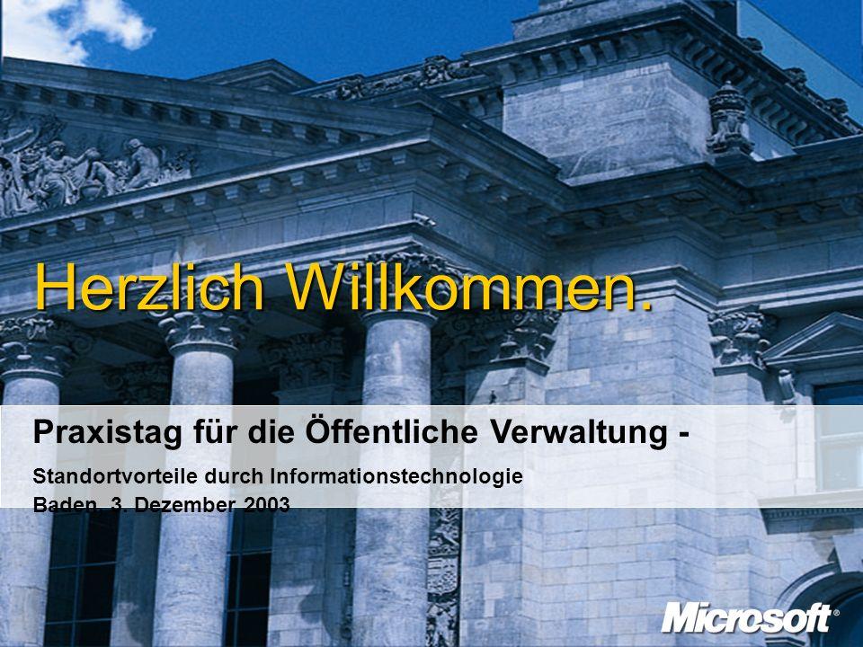 Begrüssung Alexander Stüger Geschäftsführer, Microsoft Schweiz GmbH