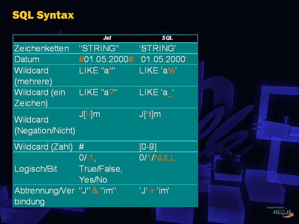 SQL Syntax