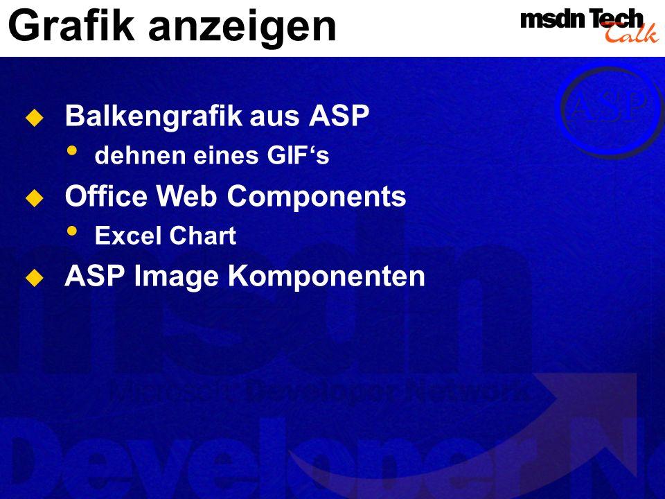 Grafik anzeigen Balkengrafik aus ASP dehnen eines GIFs Office Web Components Excel Chart ASP Image Komponenten