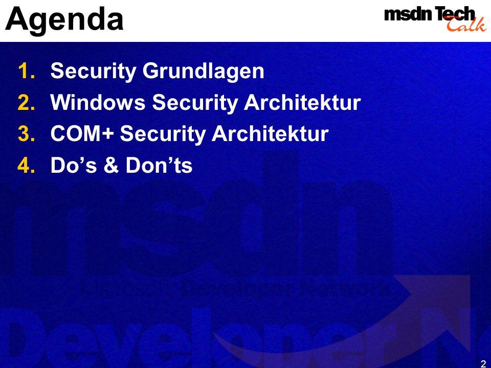 13 Security Identifier Eindeutig (etwa so wie UUID) S-1-5-21-36789224-869469349-550402555 Variabel in der Länge Revision (1) Identifier - Authority (5) Sub-authorities (21, 36789224,...) Verschiedene Arten von SID User SID Group SID Well known SIDs