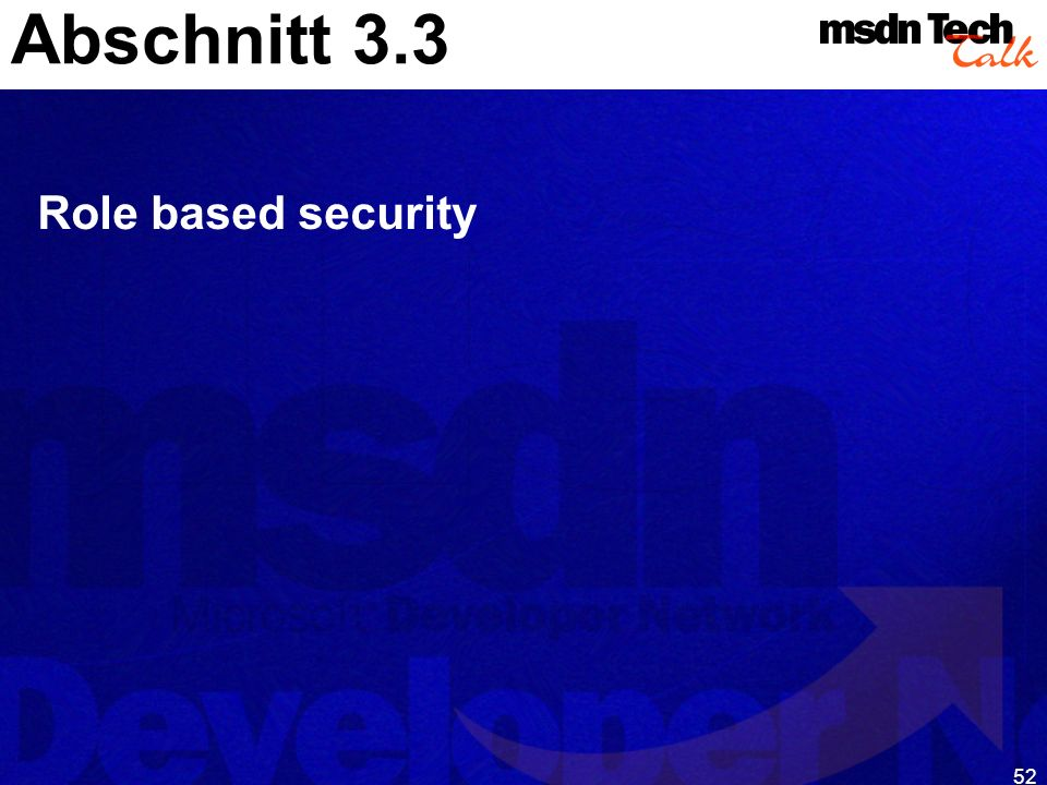 52 Abschnitt 3.3 Role based security
