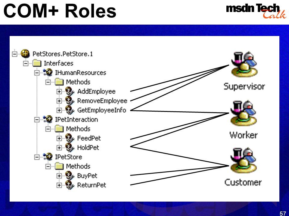57 COM+ Roles
