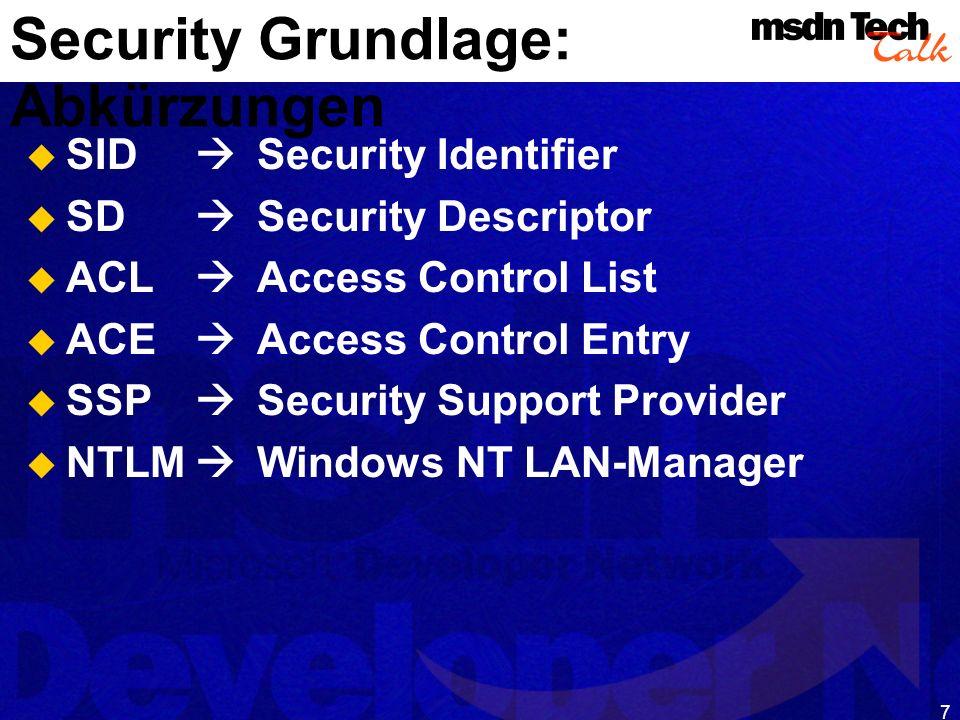 8 Abschnitt 2 Windows Security Architektur