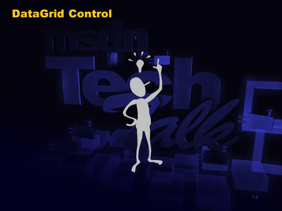 14 DataGrid Control