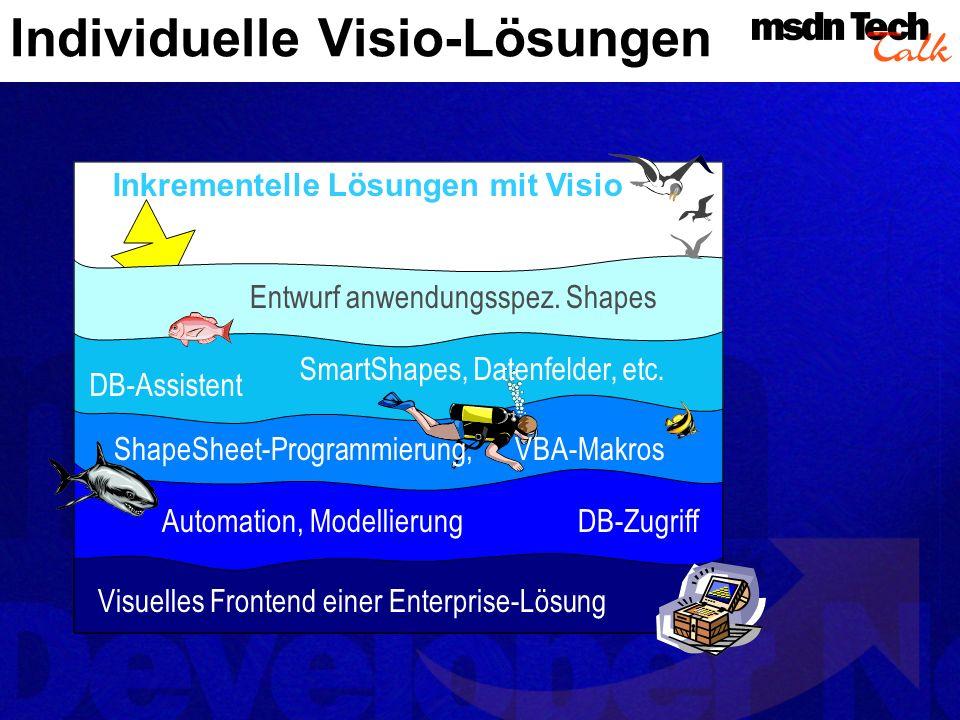 Komponenten einer Lösung Erst durch die Kombination aller Elemente entsteht eine komplette Visio-Lösung