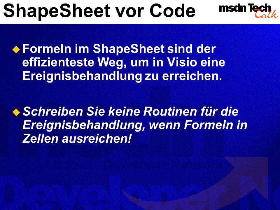 Demo ShapeSheet- Programmierung ShapeSheet- Programmierung