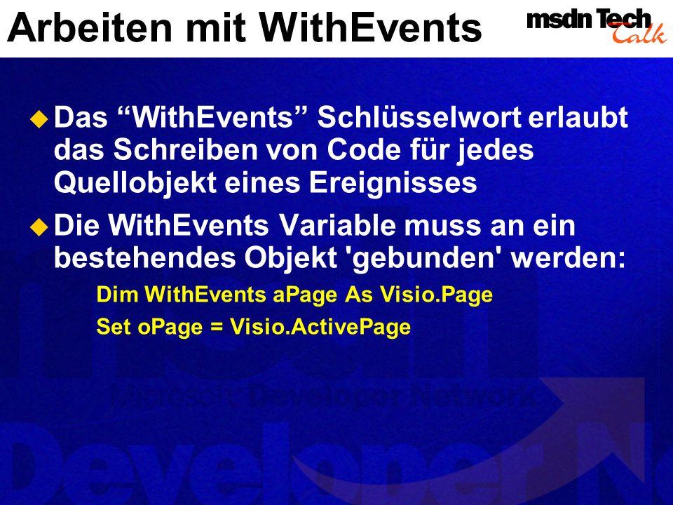 ActiveX Controls Jedes ActiveX Control kann in ein Visio-Dokument eingefügt werden.