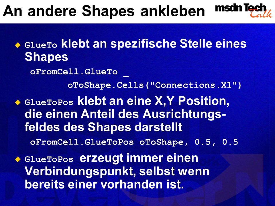 Daten zu Shapes hinzufügen Sie erhalten über die Eigenschaft Cells jede benannte Zelle in einem ShapeSheet, auch Datenfelder oder benutzerdefinierte Zellen Was passiert, wenn die Zelle nicht existiert.