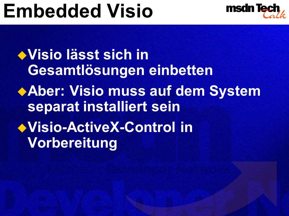 Planung einer Visio-Lösung Erst Shapes...– dann Code.
