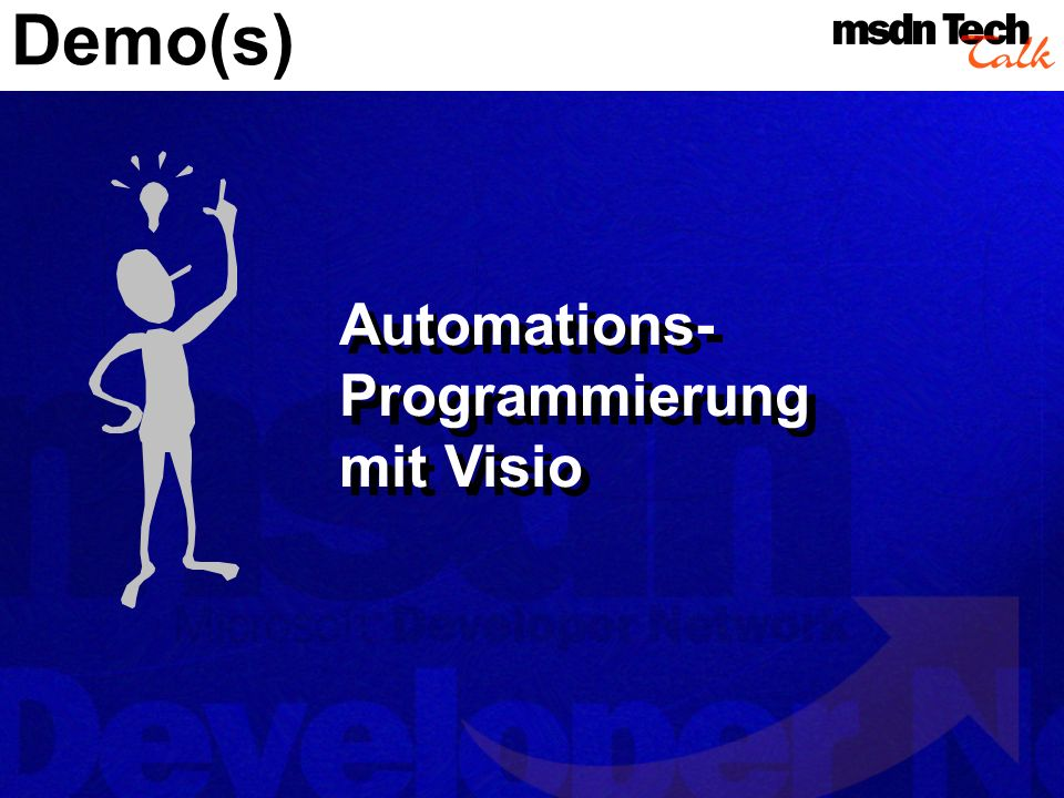 Konkrete Anwendung in Visio selbst – mitgelieferte Lösungen