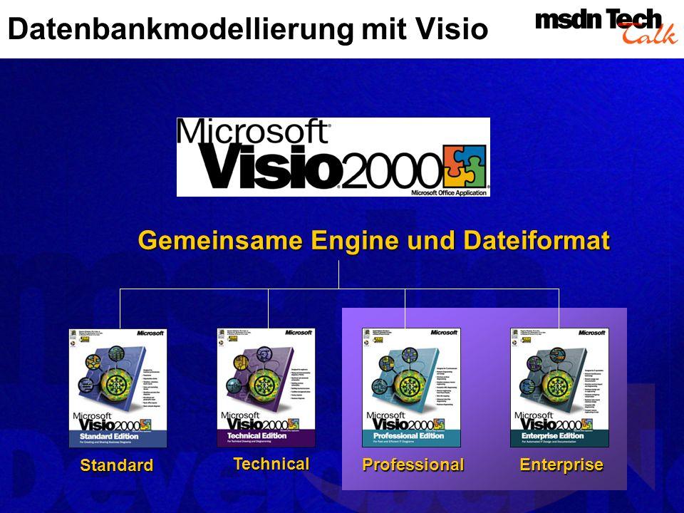 Demo Datenbankmodellierung mit Visio