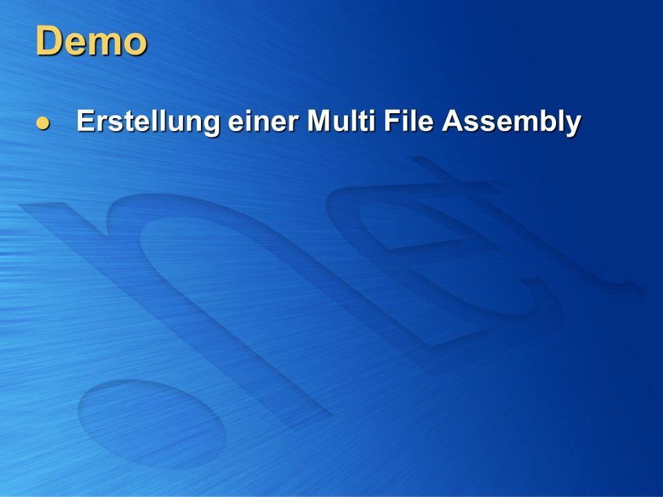 Demo Erstellung einer Multi File Assembly Erstellung einer Multi File Assembly