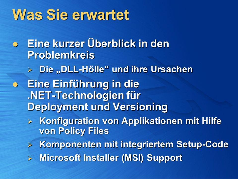 Deployment der Runtime [2/2] Standalone Executable: DotNetFx.EXE Standalone Executable: DotNetFx.EXE Ca.