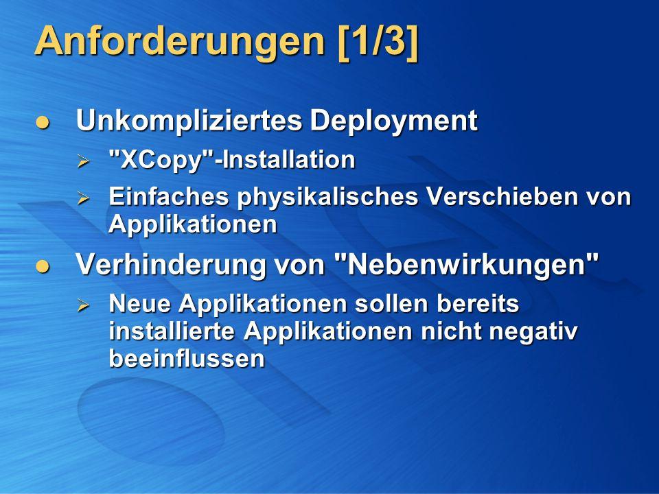 Anforderungen [1/3] Unkompliziertes Deployment Unkompliziertes Deployment