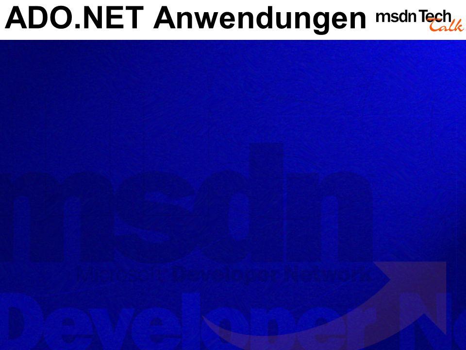 ADO.NET Anwendungen