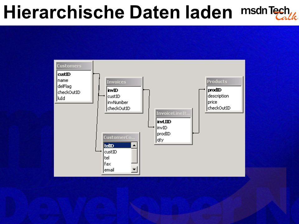 Hierarchische Daten laden