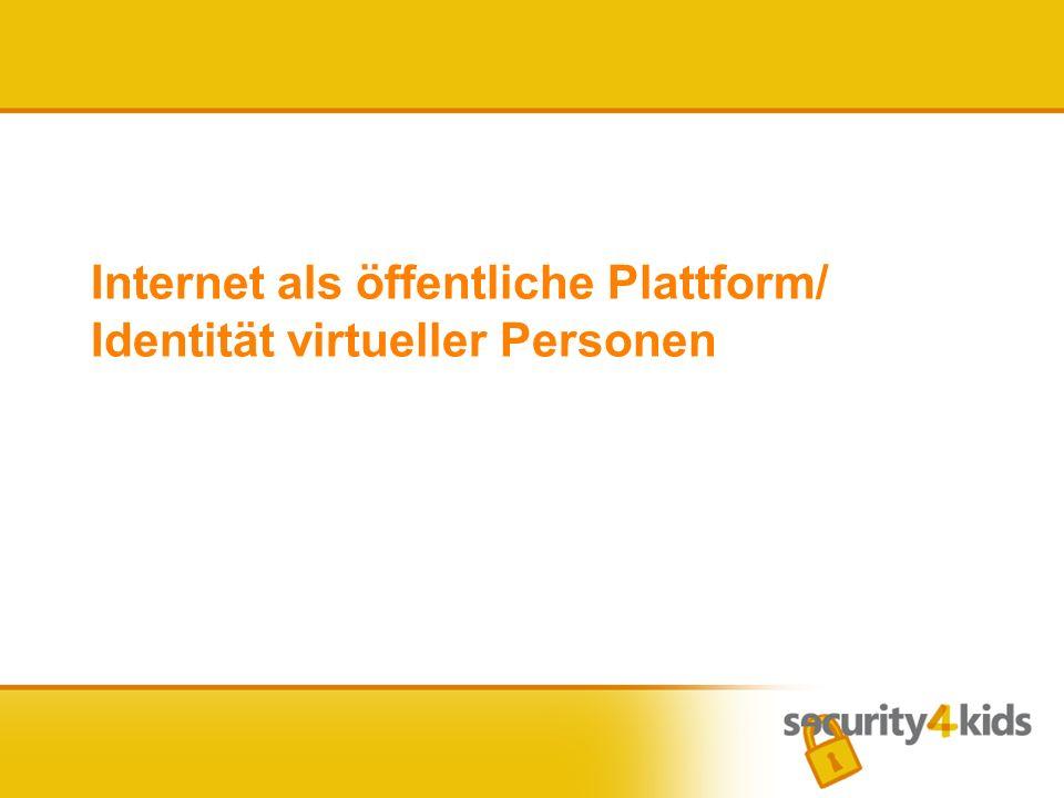 Internet als öffentliche Plattform/ Identität virtueller Personen